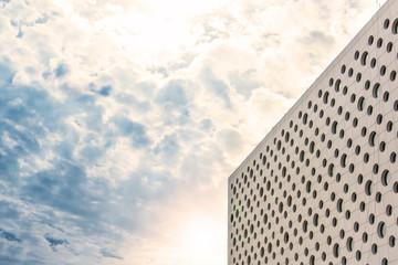 modern business building against blue sky