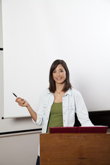 Young Woman Giving Presentation