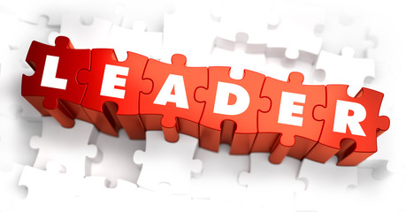 Leader - Text on Red Puzzles.