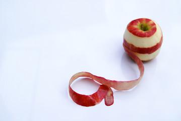 Apple and apple peel