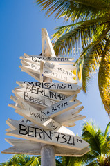 Antigua and Barbuda, Galleon Beach, All directions signpost