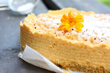 White currant rustic tart
