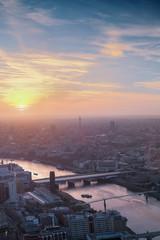 UK, London, Cityscape during sunset