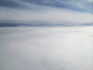 White clouds from above