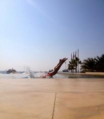 Jordan, Man diving in water