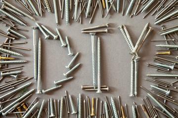 DIY spelled out in screws