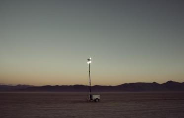 Lamp in middle of desert