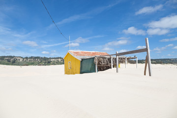 Portugal, Lisbon, Beach hut