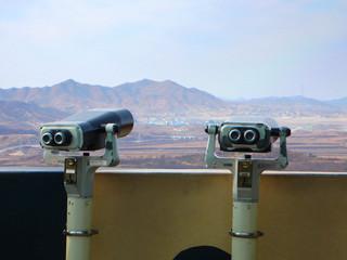 South Korea, Binoculars facing North Korea
