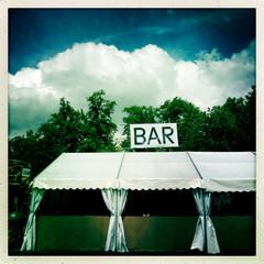 Empty Bar tent at music festival
