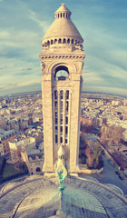 France, Paris, Montparnasse, View from top of Sacre Coeur