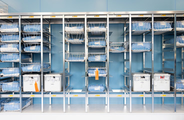 UK, Scotland, Storage Room with medical equipment