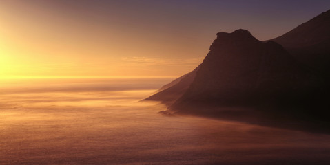 South Africa, Cape Peninsula, Sunset View From Chapman's Peak