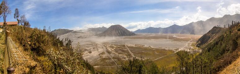 Indonesia, East Java, Malang, Panoramic view of Bromo Tengger National Park