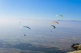 Paragliding, extreme adrenaline sport poster