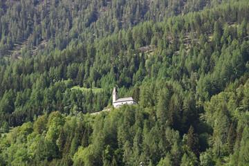 chiesetta nel bosco alberi boschi
