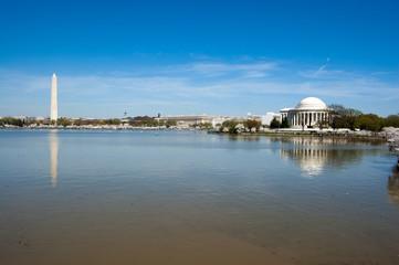 Washington Monument and Jefferson Memorail