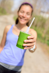 Green vegetable smoothie - healthy eating concept