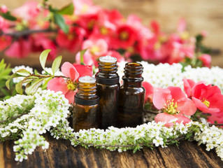 Aromatherapy Flower Essences in Bottles