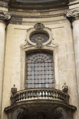Old window with balcony. Lviv, Ukraine
