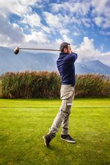 Golf player stance