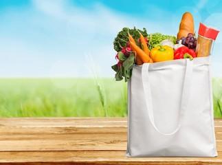 Groceries, Bag, Canvas.