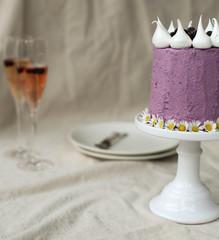 Cardamom and Blueberry Birthday Cake