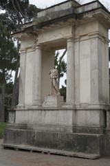 statue villa  borghese rome italy
