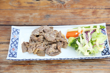 japanese food ginger fried beef