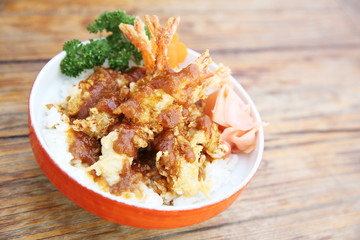 shrimp tempura don