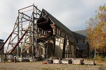Christchurch Cathedral demolished by earthquake in February 2010