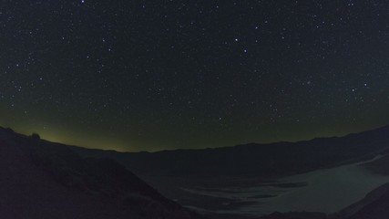 Death Valley Badwater Basin Night Sky Timelapse