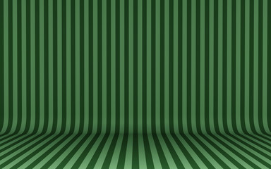 Green vertical lines on wall and floor background
