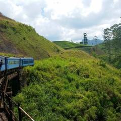 Train in the mountains, Sri Lanka