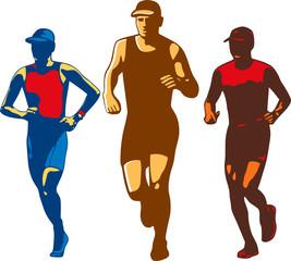 Triathlete Marathon Front Collection Retro