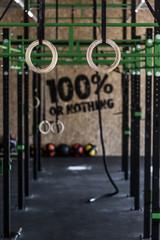 Crossfit zone on gym