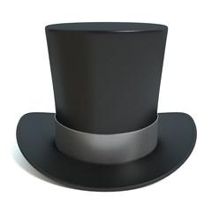 3d illustration of a top hat