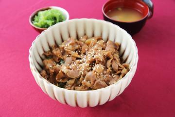 gyudon beef on rice japanese food