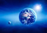 Earth sunrise deep space