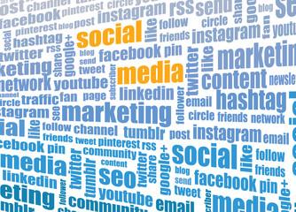 Social media tagcloud - social media sites