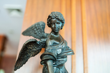 Statue angel ancient symbol old face