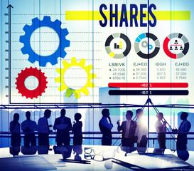 Shares Sharing Asset Contribution Dividend Concept