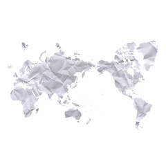 古紙の世界地図