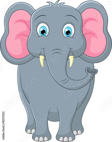 obraz PCV Słodkie słoń cartoon