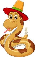 Snake wearing a hat