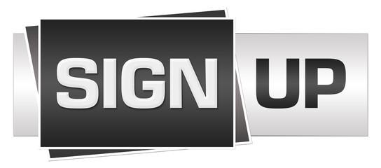 Sign Up Grey Black Horizontal