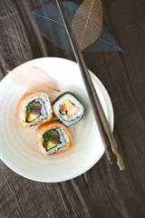 sushi roll dish