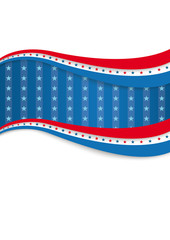 Big 4th July Blue Stripes Cover