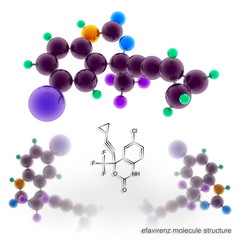 Efavirenz (Sustiva, Stocrin) molecule structure