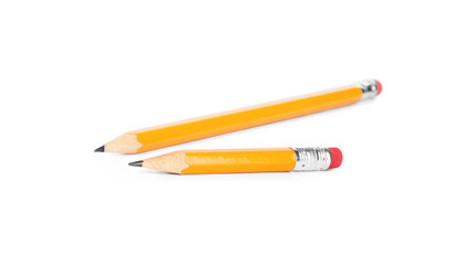 Pencils isolated on pure white background